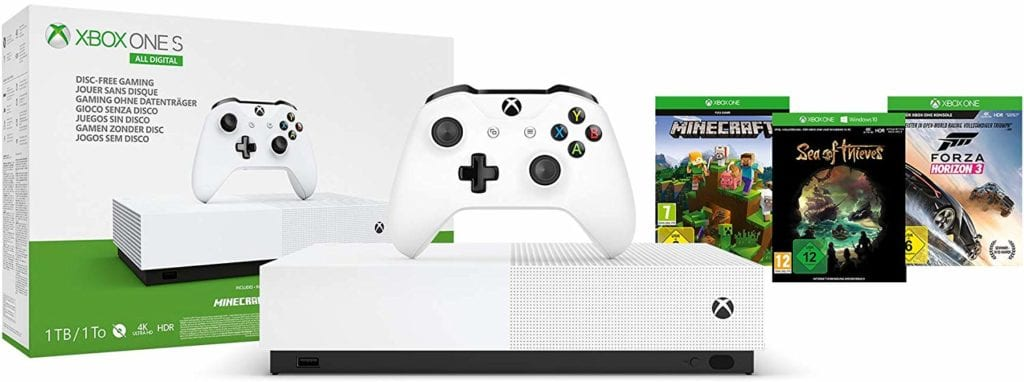 pack xbox one et 3 jeux
